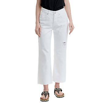 Funky Buddha Women's Regular Straight Fit Jeans With Destroyed Effects