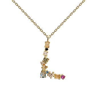 Pdpaola Women's Letter L Plated Necklace
