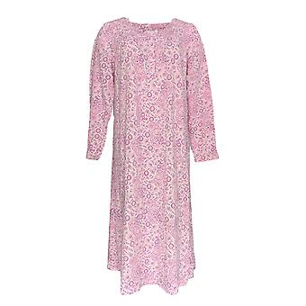 Croft & Barrow Women's Gown Long Knit Floral Print Pink