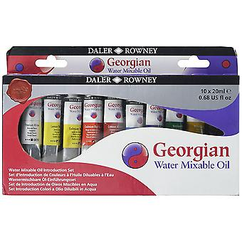 Daler Rowney Georgian Water Mixable Oil Introductie Set - 10 x 20ml Tubes