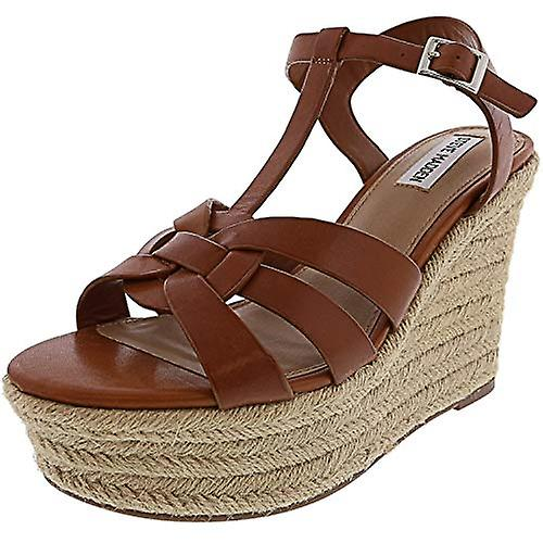Steve Madden Womens Keesha Leather Open Toe Casual Espadrille Sandals pKwXC
