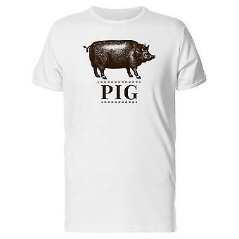 Gris billedtekst med gris Tee mænds-billede af Shutterstock