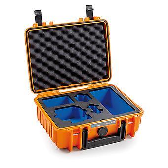B&W GoPro Case Type 1000 voor GoPro Hero 8, Oranje met schuim insert