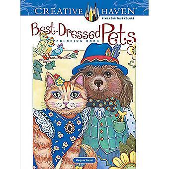 Creative Haven Best-Dressed Pets Coloring Book by Marjorie Sarnat - 9