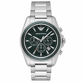 Emporio Armani AR6090 Dark Green Dial Chronograph Men's Watch
