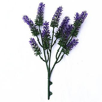 Artificial Small Lavender Wall Plant 26 Cm