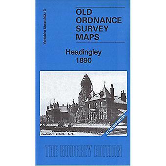 Headingley 1890 - Yorkshire Sheet 203.13a - Coloured Edition by Alan Go