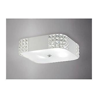 Denver Plafond Light 4 Ampoules Blanc / Cristal