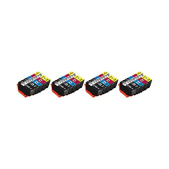 RudyTwos 4x Replacement for Epson 202XL Set Ink Unit Black Cyan Magenta Yellow & Photo Black Compatible with XP-6000, XP-6005