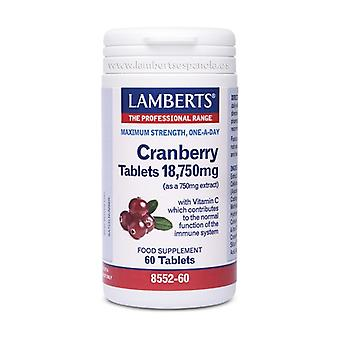Red cranberry 60 tablets of 18.75mg