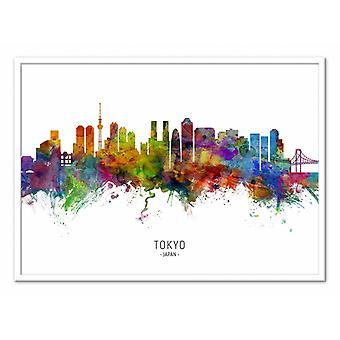 Art-Poster - Tokyo Japan Skyline (Colored Version) - Michael Tompsett 50 x 70 cm
