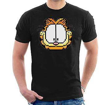 Garfield pixeleret glade ansigt mænd ' s T-shirt