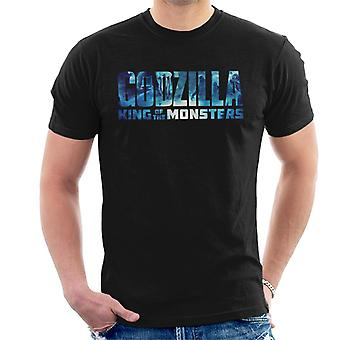 Godzilla King Of The Monsters Blue Logo Men's T-Shirt