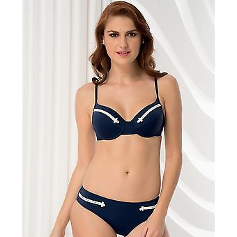 Aqua Perla  Womens Navy Girl Navy Blue Bikini Set