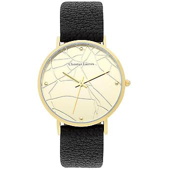 Uhr Christian Lacroix Uhren CLFS1817 - Armbanduhr Leder schwarz Frau