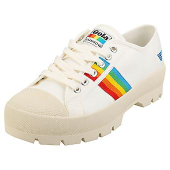 Gola Coaster Peak Rainbow Naisten Muoti Trainers Off White Monivärinen