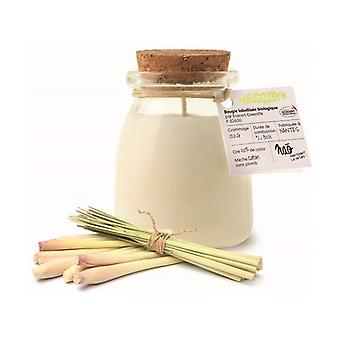 Small natural lemon grass scented candle 30h 120 g