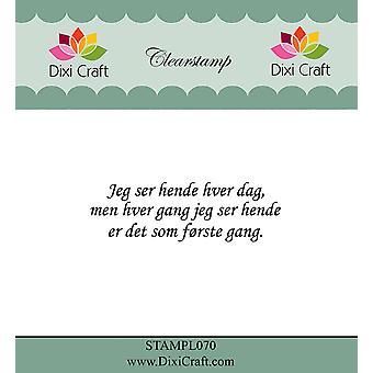 Dixi Craft Danish Text 7 Clear Stamp