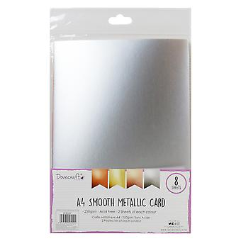 Dovecraft Metallisk Glatt A4 KortPakke