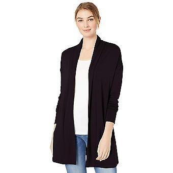 الطقوس اليومية المرأة & apos;s سوبر سوفت تيري قميص مفتوح, أسود, X-كبيرة