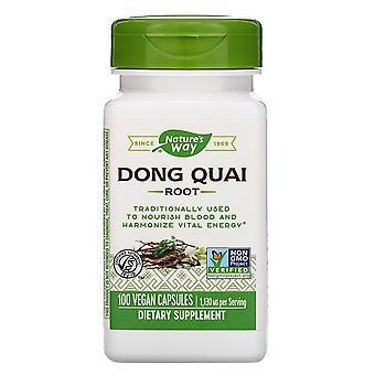 Nature's Way, Dong Quai Root, 1 130 mg, 100 veganska kapslar