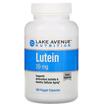 Lake Avenue Nutrition, Lutein, 20 mg, 180 Veggie Capsules