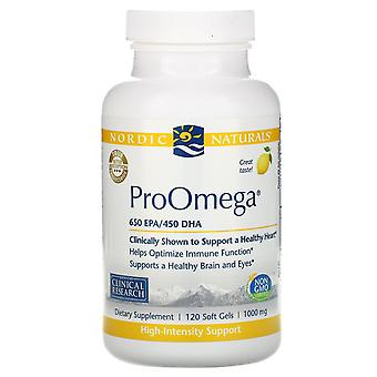 Nordic Naturals, ProOmega, Lemon, 1,000 mg, 120 Soft Gels