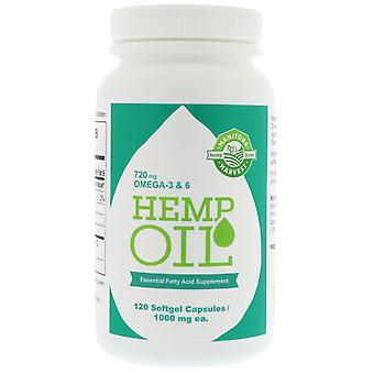 Manitoba Harvest, Hemp Oil, 1,000 mg, 120 Softgel Capsules