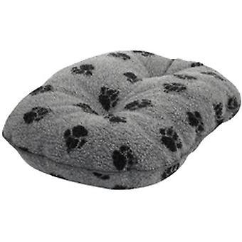Dánský design Fleece Paw Šedá prošívaná matrace - 45cm (18 palců)