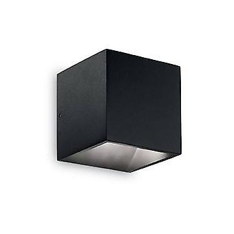 Ideel Lux Rubik - LED 1 Lys Udendørs Op Væg Light Black IP44