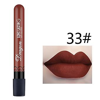 1pcs Of Sexy Matte Waterproof Lipgloss  Available In 28 Color