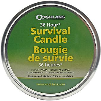 Coghlan's Survival Candle with 3 Wicks (Bulk), Burns 36 Hours, Includes Matches