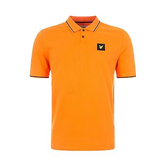 Lyle & Scott Casuals Tipped Polo Shirt - Risk Orange
