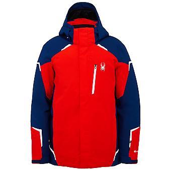 Spyder MĚDĚNÉ Pánské Gore-Tex Primaloft Lyžařská bunda Červená