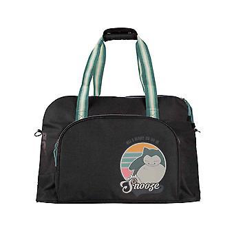 Pokemon Overnight Bag Snorlax Snooze Logo novo Official Black