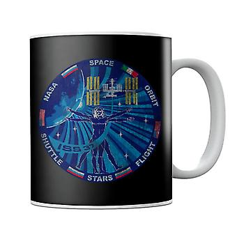 NASA ISS Expedition 37 Mission Badge Distressed Mug