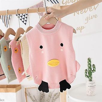 Baby Clothes Cartoon Printed Sleeveless Vest For Girl/ Boy