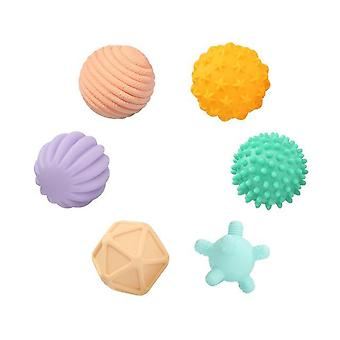 Baby Rubber Hand -textured Touch Ball For Fun, Bath Time, Type - Tj247 6pcs