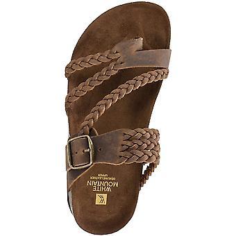White Mountain Womens Hayleigh Fabric Split Toe Walking Slide Sandals