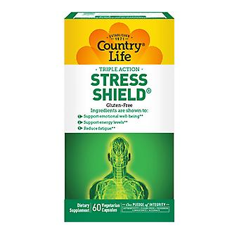Country Life Stress Shield, 1000 mg, 60 Veg. Capsules