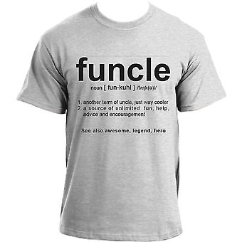 Funcle Uncle Gift Idea Novelty T Shirt Humor Cool Very Funny Uncle Tshirts For Men