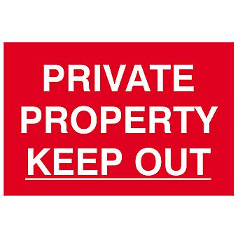 Scan Private Property Keep Out - PVC 300 x 200mm SCA1652