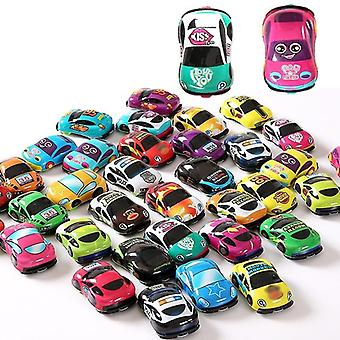 Cartoon Cute Plastic Pull Back Cars Toy For Child, Wheels Mini Car Model Kids