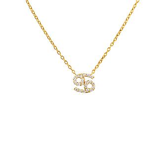 Diamond hänge halsband diamant ädelsten cancer Zodiac horoskop juni juli