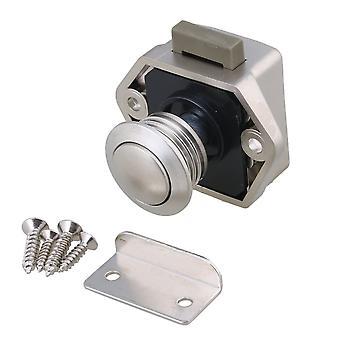 Cupboard 3.5CM Push Button Keyless Latch for RV Cupboard Cabinet Nickel