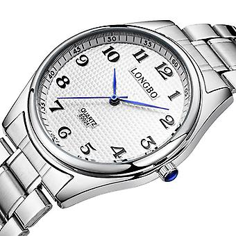 LONGBO 80024 Случайный стиль Пара Wrist Часы Стальной ремешок Аналог Кварц Смотреть