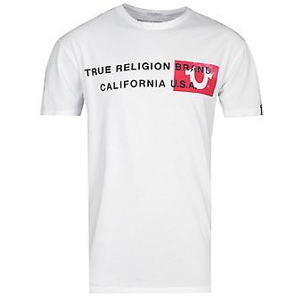 True Religion California U.S.A Horseshoe Logo White T-Shirt