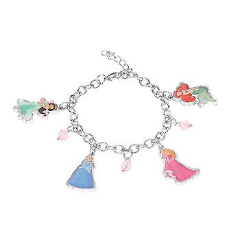 Lapset's Disney Princesses hopea päällystetty charmi rannekoru