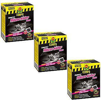Sparset: 3 x COMPO Cumarax® mice bait paste, 200 g