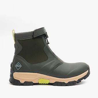 Muck Boots Apex Mid Zip Mens Rubber Waterproof Boots Green